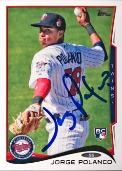 2014 Topps Update Jorge Polanco IP Auto