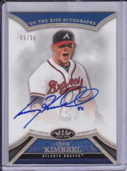 Craig Kimbrel 2013 Topps Tier One On the Rise Autographs /50