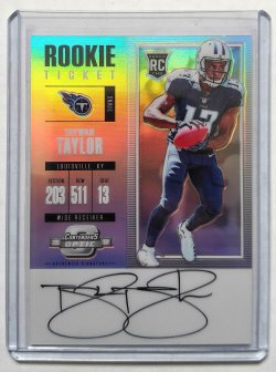 2017 Panini Contenders Optic Taywan Taylor Rookie Ticket Auto