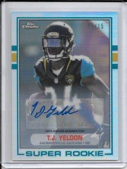 2015 Topps Chrome 1989 Refractor Autograph - T.J. Yeldon