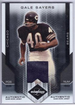 2007 Leaf Limited Gale Sayers Threads