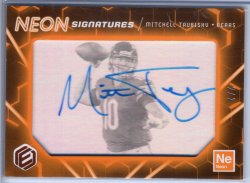 2018 Panini Elements Mitchell Trubisky Neon Signatures Tier 3 Orange