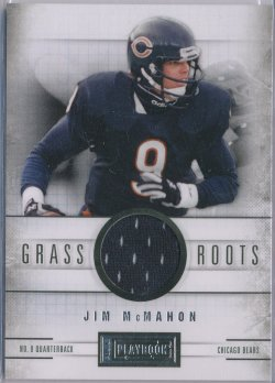2012 Panini Playbook Grass Roots Materials #66 Jim McMahon/49