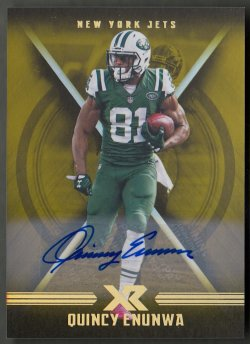 2017 Panini XR Autographs Gold Quincy Enunwa