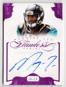2014 Panini Flawless Rookie Autographs Pink #11 Marqise Lee/14