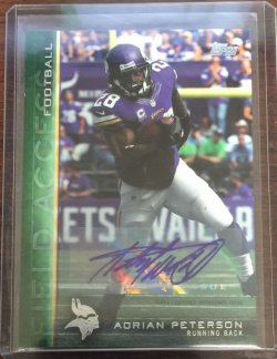 2015 Topps Field Access Adrian Peterson Auto