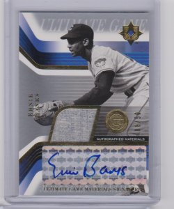 2004 Upper Deck ultimate game materials auto ernie banks
