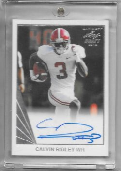 2018 Leaf Ultimate Calvin Ridley 90 Auto