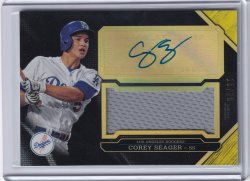2016 Bowman Triple Threads Unity Autographed Jersey Relic Corey Seager