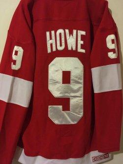 CCM OFFICIAL Vintage NHL Jersey  GORDIE  HOWE  #9 Detroit RedWing HOF Captain  Size 48