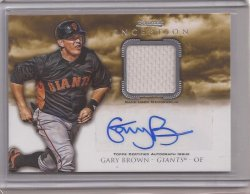 2013 Bowman Inception Relic Gary Brown