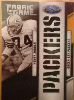 2011 Panini Certified Henry Jordan Fabric of the Game Team Die Cut