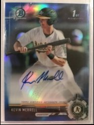 2017 Bowman Chrome Kevin Merrell Draft Blue Refractor