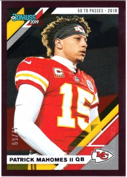 2019 Donruss Purple Mahomes /50