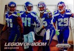 """2014 Panini Prizm """"Legion of Boom"""" Chancellor, Thomas, Maxwell, Sherman"""