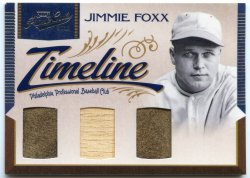 2011 Panini Playoff Prime Cuts Jimmie Foxx Timeline Triple Relics
