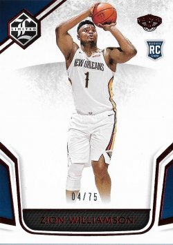 2019-20 Panini Chronicles Limited Red Zion Williamson #ed 4/75