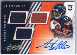 2018 Panini Absolute Anthony Miller Rookie Premiere Materials RC