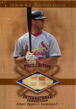 2001  SP Game Bat Albert Pujols