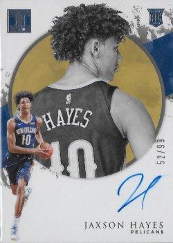 2019-20 Panini Impeccable Rookie Autographs Jaxson Hayes #ed 52/99