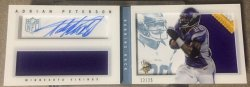 2013 Panini Playbook  Adrian Peterson Booklet Patch Auto