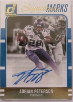 2016 Donruss  Adrian Peterson Auto