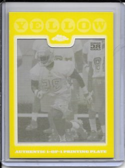 2008 Topps Chrome Yellow Printing Plate - Marcus Griffin