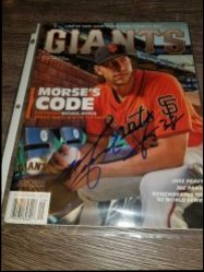 2014  Giants Magazine Michael Morse IP Autograph