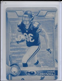 2015 Topps Chrome Cyan Printing Plate - Jeremy Langford