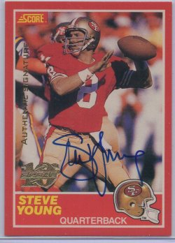 1999 Score 10th Anniversary Reprints Autographs Steve Young