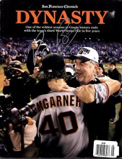 2014   San Francisco Chronicle Dynasty Magazine Bruce Bochy IP Autograph