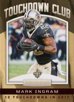 2018 Panini Rookies and Stars Touchdown Club Mark Ingram