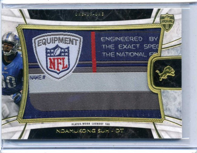 2013 Topps Supreme Ndamukong Suh 1/1 Laundry Tag Patch