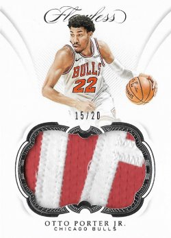 2018-19 Panini Flawless Patches Otto Porter Jr. #ed 15/20
