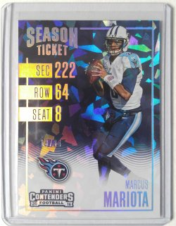 2016 Panini Contenders Marcus Mariota Season Ticket Cracked Ice