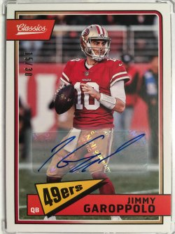 2018 Panini Classics Significant Signatures #83 Jimmy Garoppolo /30