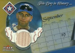 2002 Fleer Tradition Update This Day in History Game Used (BAT) Alex Rodriguez