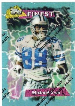 1995 Topps Finest Michael Irvin Booster Refractor