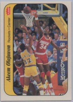 1986-87 Fleer Stickers Akeem Olajuwon