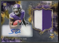 2015 Topps Platinum Rookie Patch Autographs Stefon Diggs