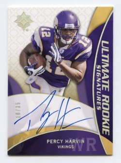 2009 Ultimate Collection Ultimate Rookie Signatures Blue #208 Percy Harvin/35