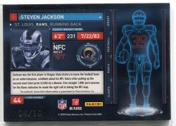 2010 Panini Absolute Steven Jackson TOTT Black Jersey Number Back