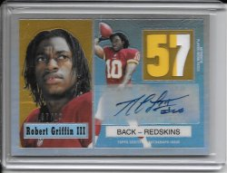 2012 Topps Chrome 1957 Refractor Autograph Patch - Robert Griffin III (A)
