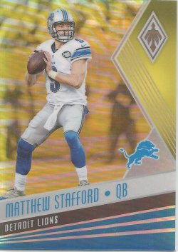 2017 Panini Phoenix-Yellow Parallel Matthew Stafford