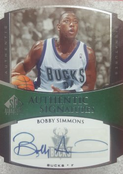 Upper Deck SP Signature Edition Bobby Simmons Auto