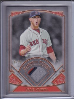 Craig Kimbrel 2017 Topps Museum Collection Meaningful Materials Relics Copper /35