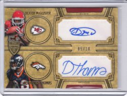 2010 Topps Supreme Dual Autographs Dexter McCluster/Demaryius Thomas