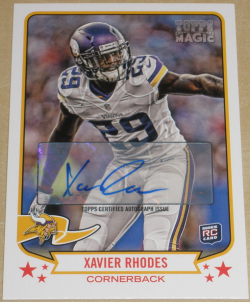 2013 Topps Magic  Xavier Rhodes Auto