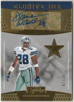 2016 Donruss Signature Series Elusive Ink Gold Darren Woodson