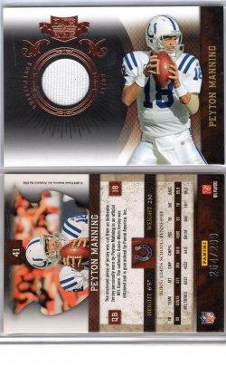 2010 Playoff Plates & Patches Peyton Manning